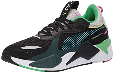 89768898a687 PUMA Men s RS-X Sneaker Black-Blue ATOL