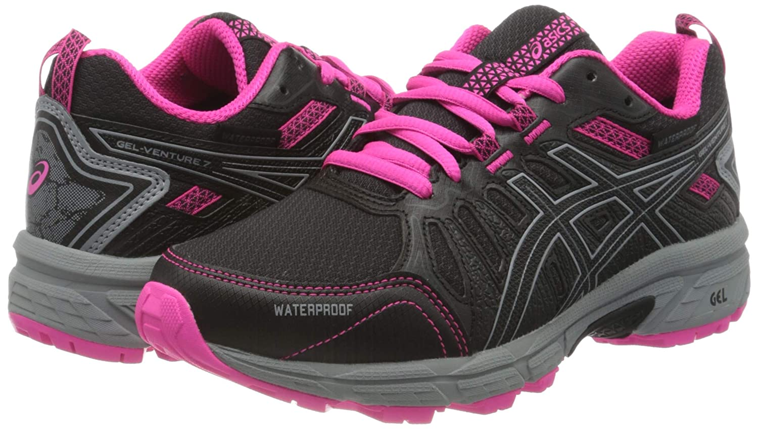 Asics Gel-Venture 7 GS WP, Trail Running Shoe Unisex-Child, Black/Sheet Rock, 32.5 EU: Amazon.es: Zapatos y complementos