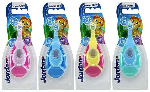 Jordan - Cepillo de dientes para niños, 0-2 años, Paquete de 1: Amazon.es: Bebé