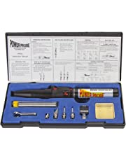 POWER PROBE Butane Soldering Kit (PPSK) [Automotive Diagnostic Car Test Tool, Easy Start Electronic Ignition, Adjustable Flame, with Multiple Tips]
