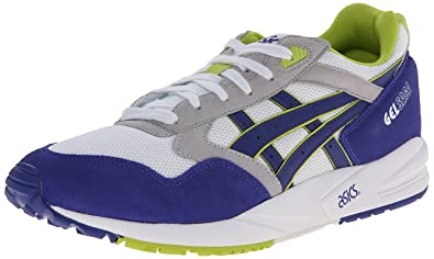 ASICS Gel-Saga Retro Running Shoe, White/Dark Blue, 4 M US