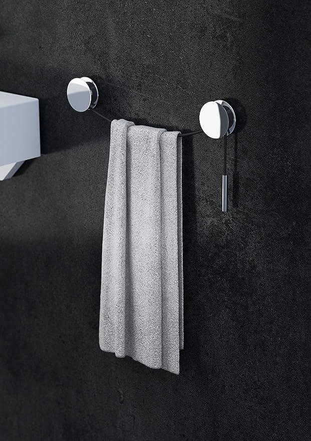 Handtuchhalter Chrom Schwarz 5 x 1 7 cm