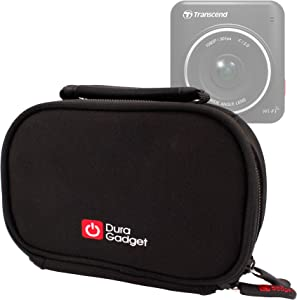 DURAGADGET Durable Black Padded Case w/Carry Handle - Compatible with Transcend DrivePro 220 | DrivePro 200 | DrivePro 100 | DrivePro 50 & DrivePro 520 16GB Dash Cams