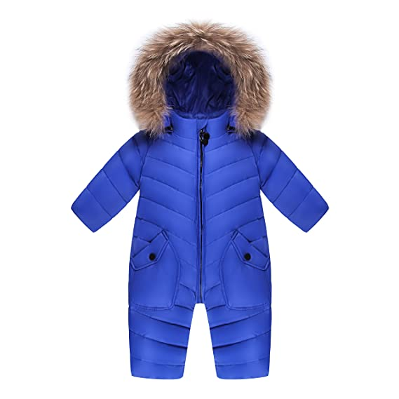 80d8bbf38164 XIRUI Children Winter Jumpsuit Lovely Rompers Baby Girl Winter Coat ...