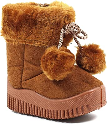 Other Fashion Buckle Synthetic Cute Slip on Toddlers Kids Girls Snow Boots Winter Shoes New Without Box