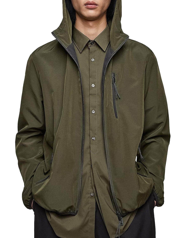1e093b33 Zara Men's Technical Hooded Jacket 7020/452: Amazon.co.uk: Clothing