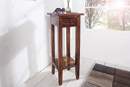 DuNord Design Mahagoni - Mesa para teléfono (madera maciza, 75 cm ...