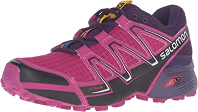 Salomon L38310600, Zapatillas de Trail Running para Mujer, Morado (Deep Dalhia/Black/Cosmic Purple), 45 1/3 EU: Amazon.es: Zapatos y complementos