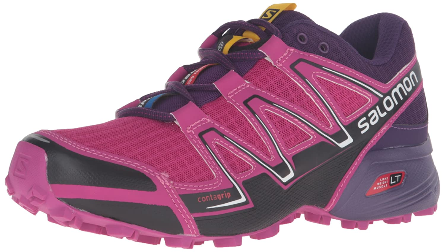 Salomon Speedcross Vario Women's Trail Running Shoes B017USWV92 5 B(M) US|Deep Dahlia/Black/Cosmic Purple