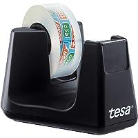 tesa Easy Cut Smart Plakbanddispenser voor tafels, compacte tafeldispenser met antisliptechnologie voor plakfolie, incl…