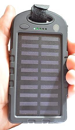 Amazon.com: Cargador solar 30000 mAh batería impermeable ...