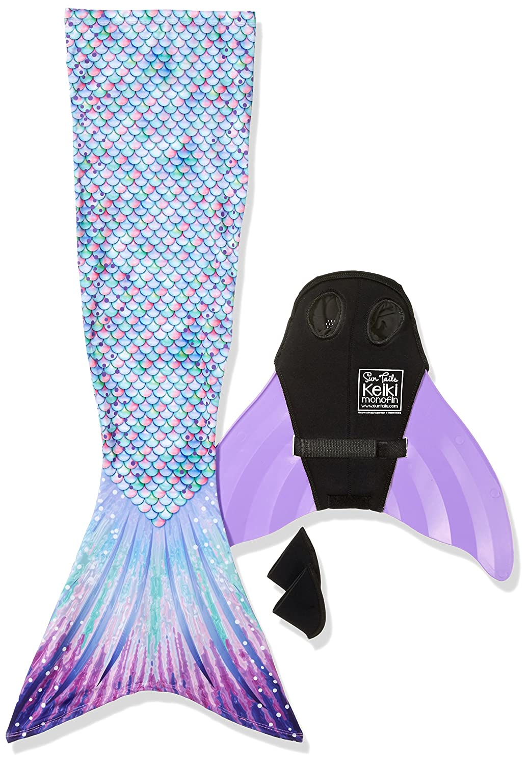 Sun Tail Mermaid Designer Mermaid Tail + Monofin for Swimming