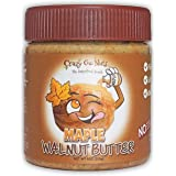 Crazy Go Nuts Walnut Butter - Maple, 9 oz (1-Pack) - Healthy Snacks, Keto, Vegan, Low Carb, Gluten Free, Superfood - Natural,