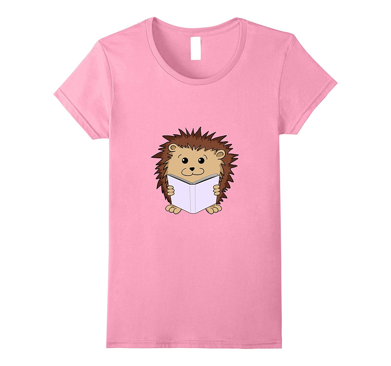 Book Nerd Cute Hedgehog Shirt-Tovacu