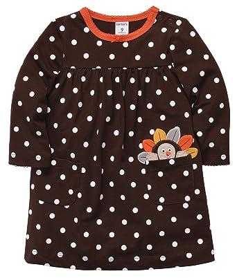 72f90f844 Amazon.com  Carter s Baby Girls 2-piece Thanksgiving Dress Set (NB ...