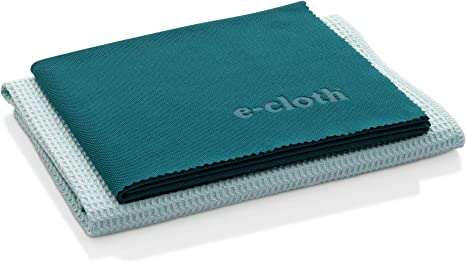 E-Cloth Window Cleaning Pack, Microfiber Glass Scrubbing Cloth & Polishing Cloth (Set of 2) best natural bathroom cleaning product