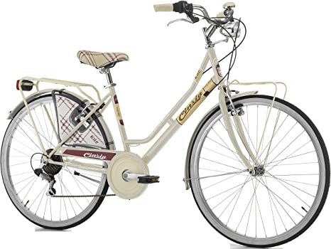 Bicicleta cicli Cinzia Kilt Mujer, marco de acero, 6 velocidades ...