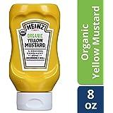 Heinz Organic Yellow Mustard, 8 ounce Easy Squeeze Bottle