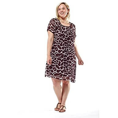 La Cera Printed Dress Plus Size At Amazon Womens Clothing Store