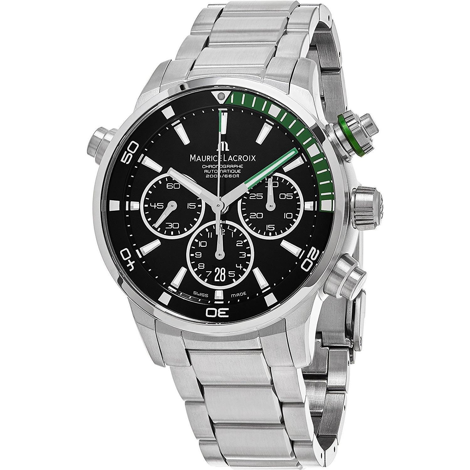 Maurice Lacroix Reloj de hombre automático 44mm PT6018-SS002 ...