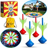 ToyerZ Lawn Darts Outdoor Games for Kids & Adults - Outside Toys for Boys & Girls, Family Yard Toss Game Set with 4 Dart Pins