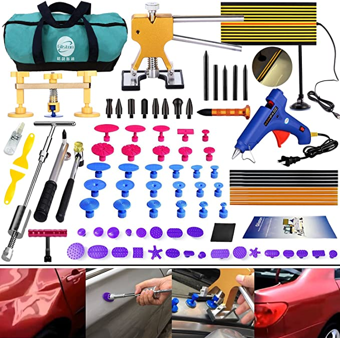 Liseng Tools New Quality Hooks Rods Paintless Dent Removal Car Repair Kit Tools Door Dent Ding Hail Removal