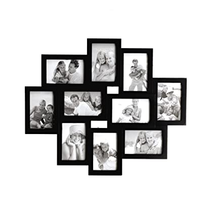 Amazon.com - Melannco 10-Opening Black Picture Collage Wall Frame -