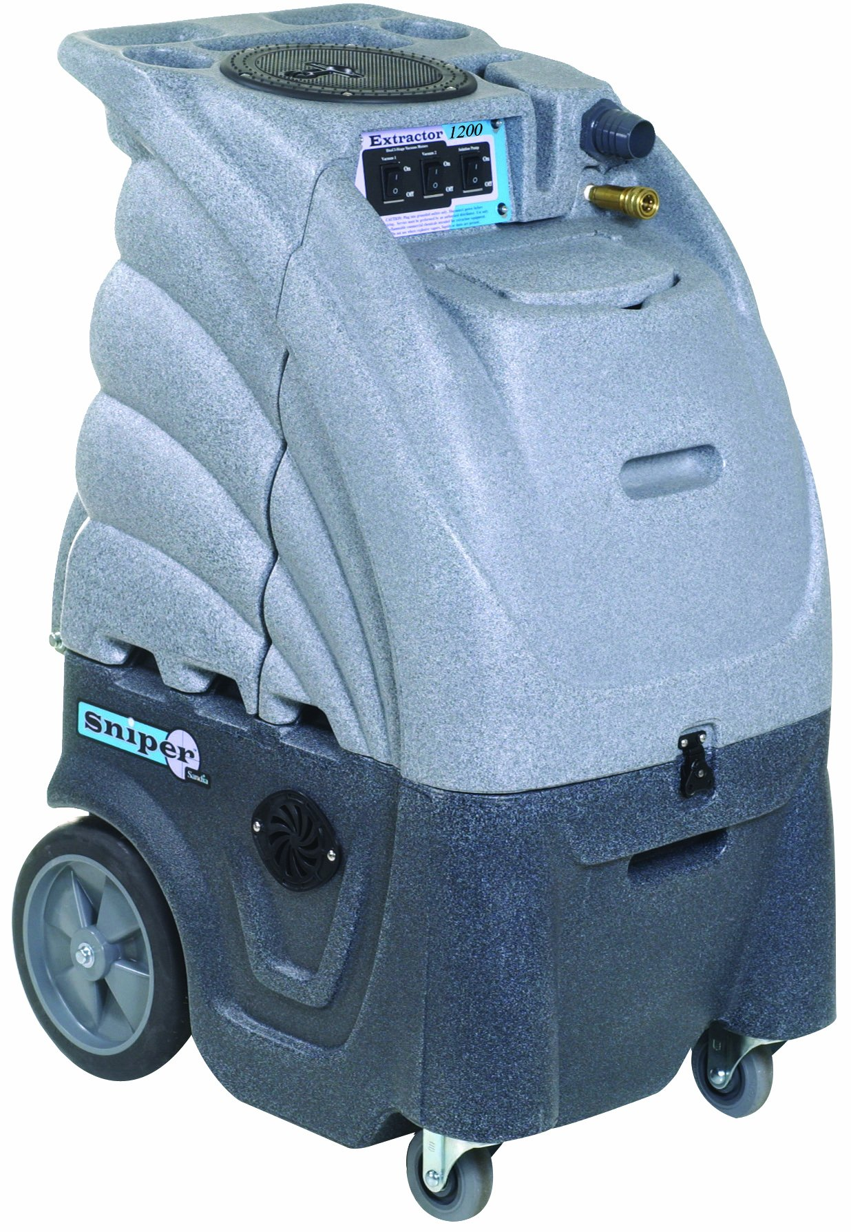 Sandia 80-5000 3 Stage/2 Stage Motor Hard Surface Sniper Commercial Extractor with Auto-Fill and Auto-Dump, 12 Gallon Capacity, 1200 psi Pump