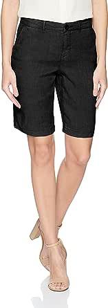 NYDJ Womens MAKB2192 Bermuda Linen Short Shorts