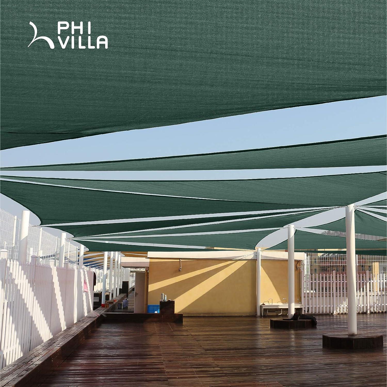 PHI VILLA - Toldo Triangular para Patio, jardín, Patio, pérgola: Amazon.es: Jardín