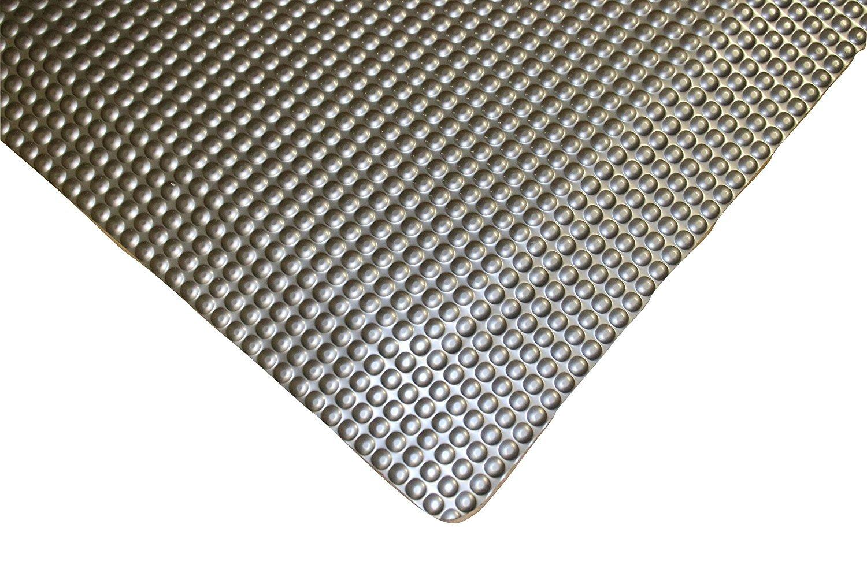 Rhino Mats RFLX24DSMX13 Reflex Double Sponged Anti-Fatigue Mat Metallic Grey 2 x 13 x 1