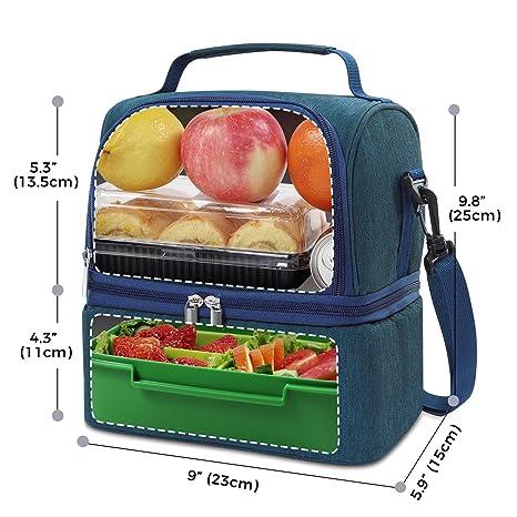 Haoda - Nevera portátil pequeña con acumulador de frío, Bolsa de ...