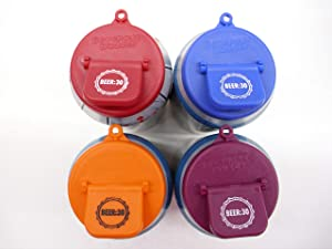 Beverage Buddee Can Cover - Beer :30 Imprint - Best Can Cover For Standard Size Soda/Beer/Energy Drink Cans - Made In The USA - BPA-PCB Free - Assorted Colors - 4 pack (Plain)