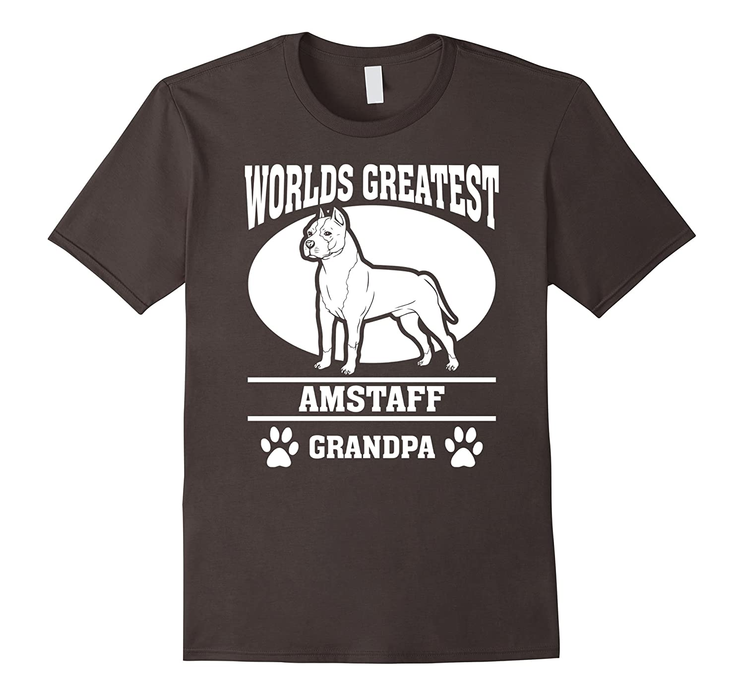 Mens American Staffordshire Terrier Grandpa T-shirt-ah my shirt one gift