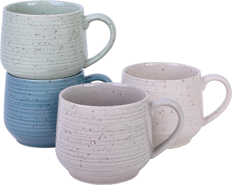 Sango Siterra Artist's Blend Stoneware Coffee Mugs, Green (Set of 4)