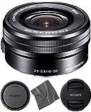 Sony SELP1650 16-50mm OSS Lens: Sony E PZ 16-50mm f/3.5-5.6 OSS Lens (Black) + AOM Pro Starter Bundle Kit Combo…