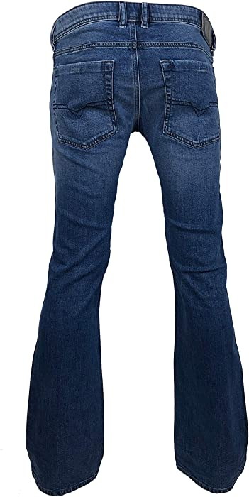 b7702b41628 Diesel Mens Boot-Cut Stretch Jeans Zathan R88U4 Blue - Blue - 30W x 32L.  Back. Double-tap to zoom