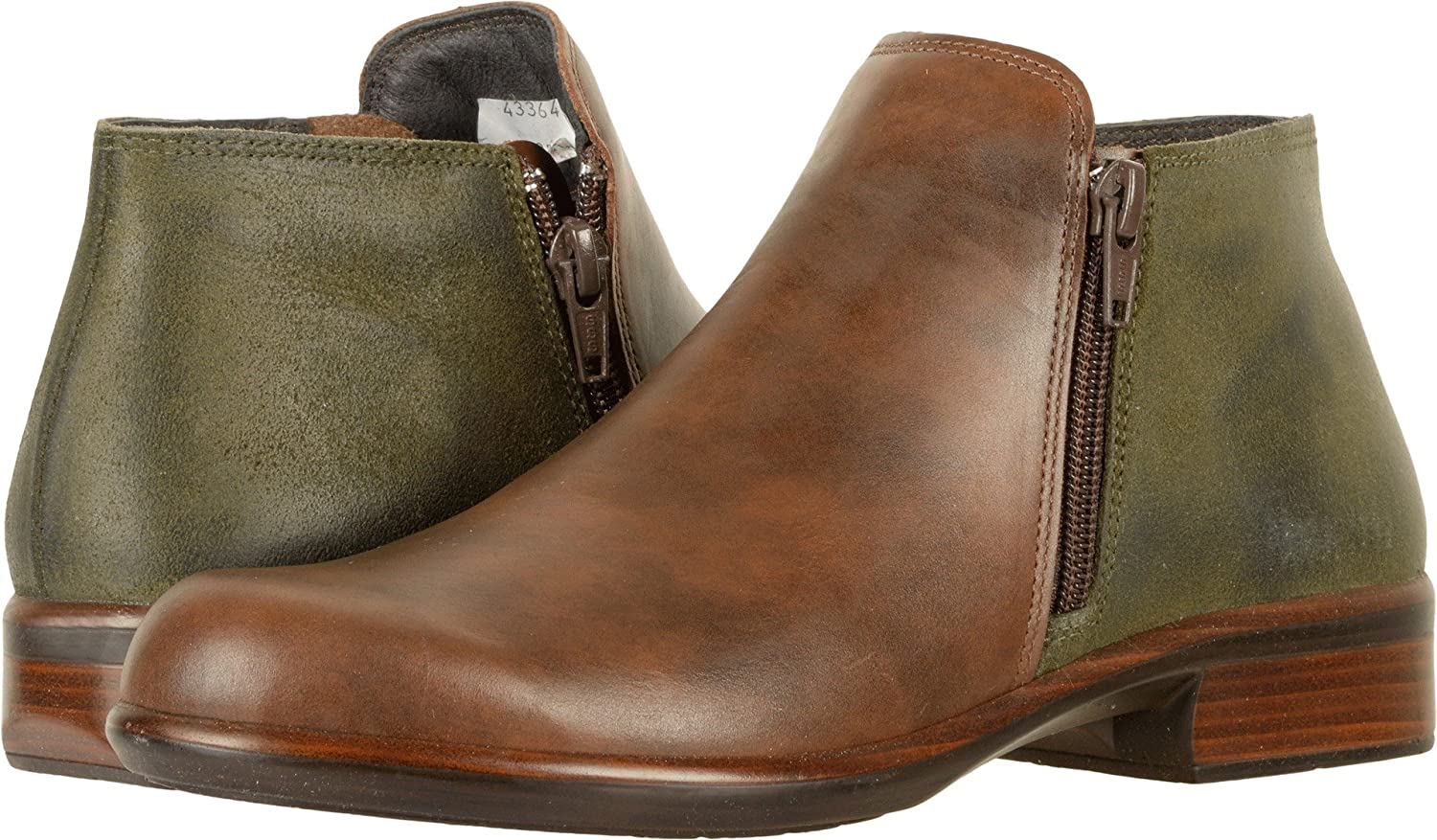 NAOT Women's Helm Ankle Bootie B01MYAM56B 35 M EU|Pecan Brown, Oily Olive Suede