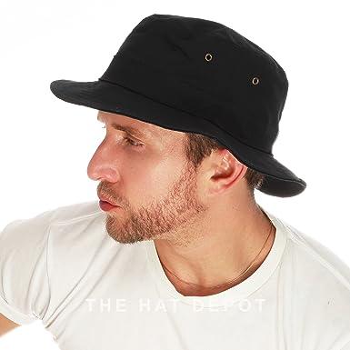 cc6815f9363b75 The Hat Depot 100% Cotton Canvas Packable Summer Travel Bucket Hat ...