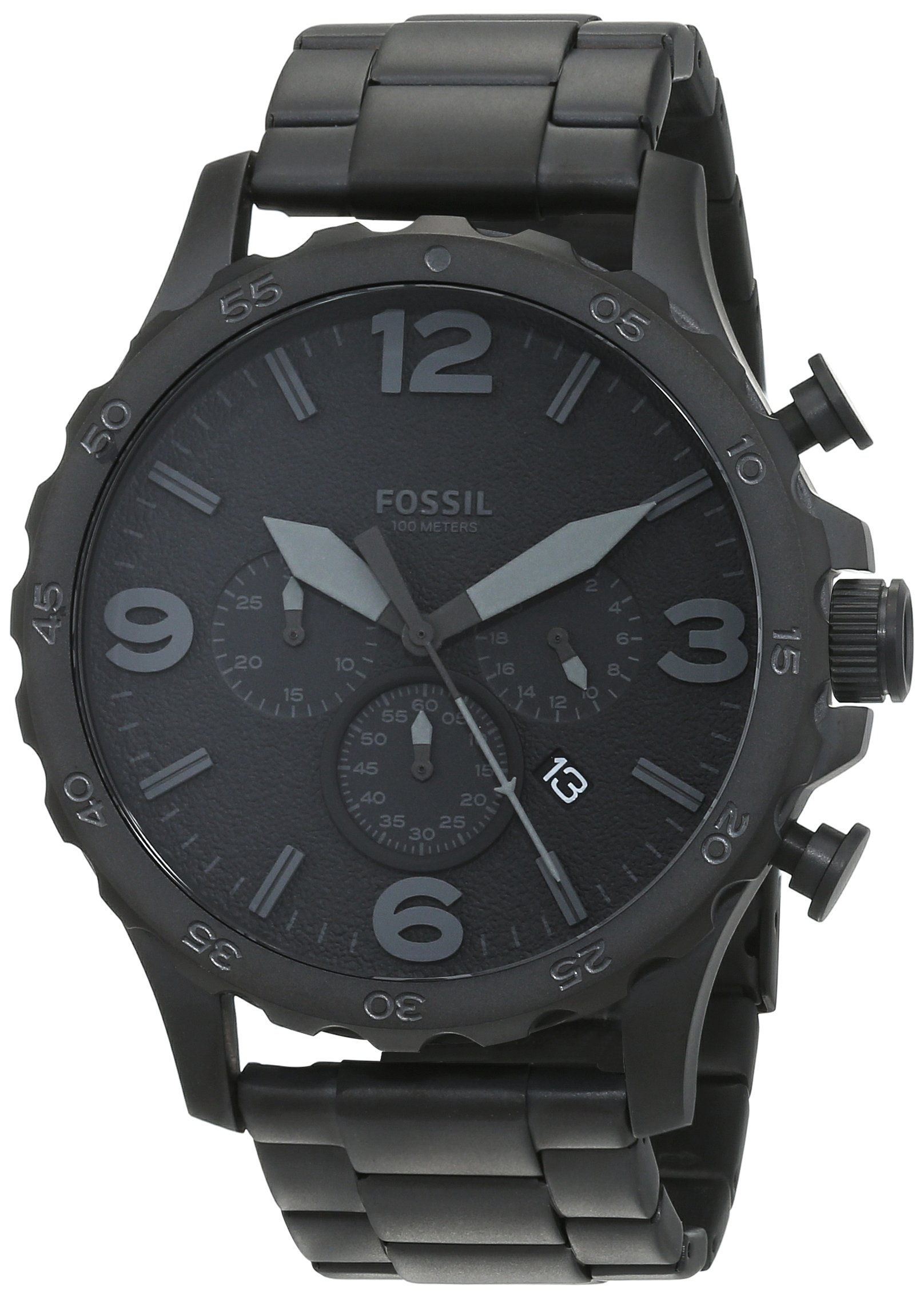 fossil men 39 s fs4487 machine chronograph black stainless steel watch with silicone. Black Bedroom Furniture Sets. Home Design Ideas
