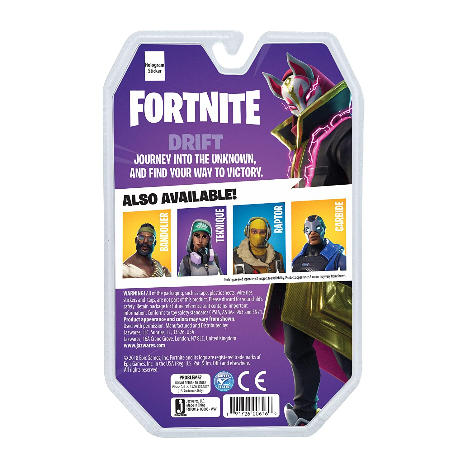 "Drift Toys /"" Games Fortnite Action Figures FNT0012 Solo Mode Core Pack"