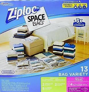 Ziploc Space Bag- Vacuum Seal Bag- 13 Bag Variety- 4 Travel 2  sc 1 st  Amazon.com & Amazon.com: Ziploc Space Bag 15 Bag Space Saver Set (2 XL 5 L 4 M ...
