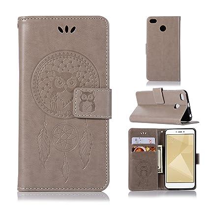 BCIT Xiaomi Redmi 4X Funda - [Patrón de búho] Carcasa Libro de Cuero Con Tapa y Cartera, Carcasa PU Leather Con TPU Silicona Case Interna Suave para ...
