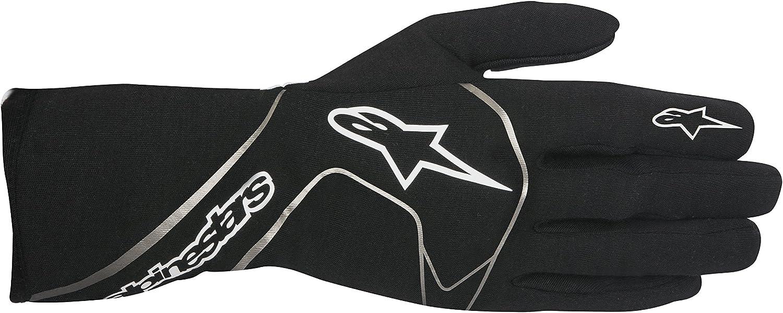 Alpinestars Tech 1 Race Fia Schwarz Weiß Rennhandschuhe Handschuhe Auto