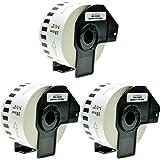 3x Endlos-Etikett für Brother DK22225 38mm x 30,48m P-Touch QL-1050 1060N 500 550 560 570 580 700 500 A BS BW 560 VP YX 580N 650TD 710W 720NW