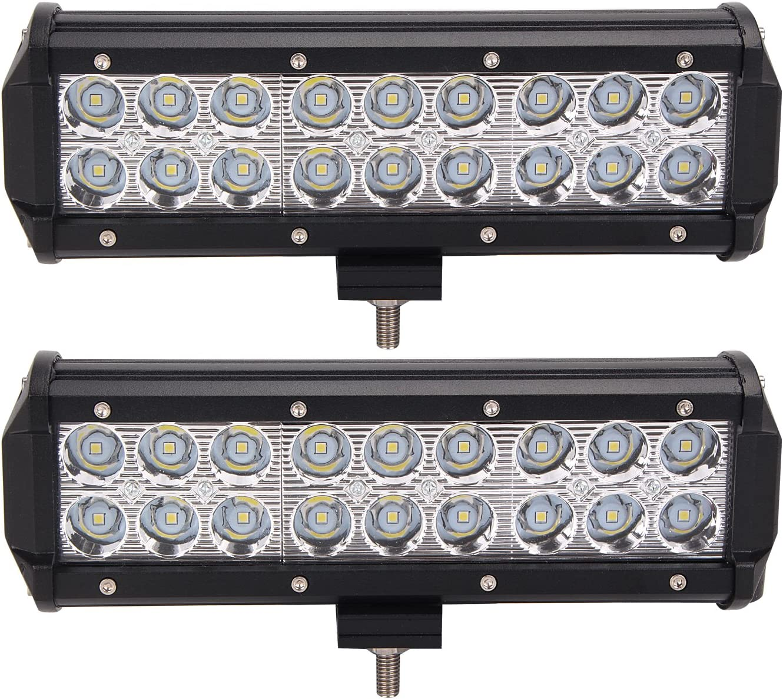 2X 9inch 54W CREE LED Work Light Bar Spot Beam Offroad Driving ATV 4x4 UTE JEEP