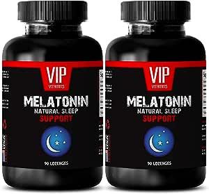 Immune Boosting Supplements - MELATONIN Natural Sleep Support - Promotes Sleep Quality - Good Night - melatonin Made in USA - 2 Bottles (180 Lozenges)