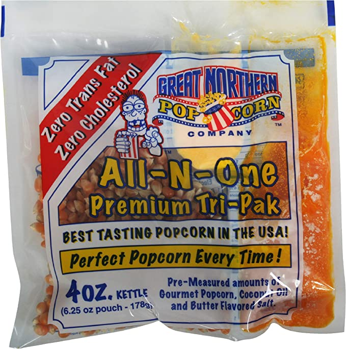 Great Northern Popcorn, 4-Ounce Portion Packs (Pack of 24): Amazon ...