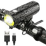 INTEY LED Fahrradlicht USB Wiederaufladbare Fahrradbeleuchtung, 4500mAh 1000 Lumen und 6 Licht Modi als Power Bank mit Fernbedienungstaste für Sicheres Radfahren, Schwarz