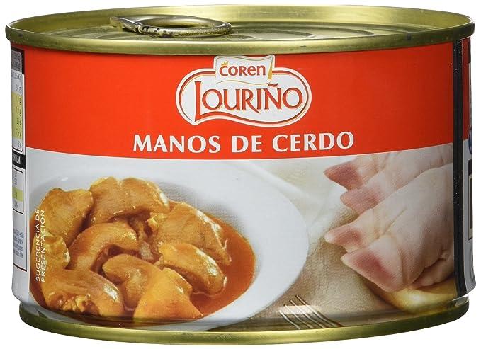 Coren Lourino - Manos de cerdo, 440 g, Pack de 4